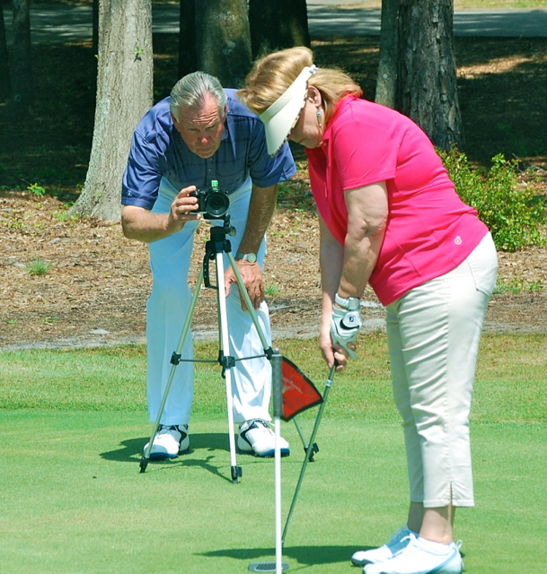 Mel Sole with Mary putting