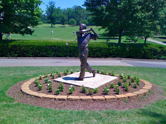 Furman golf course statue