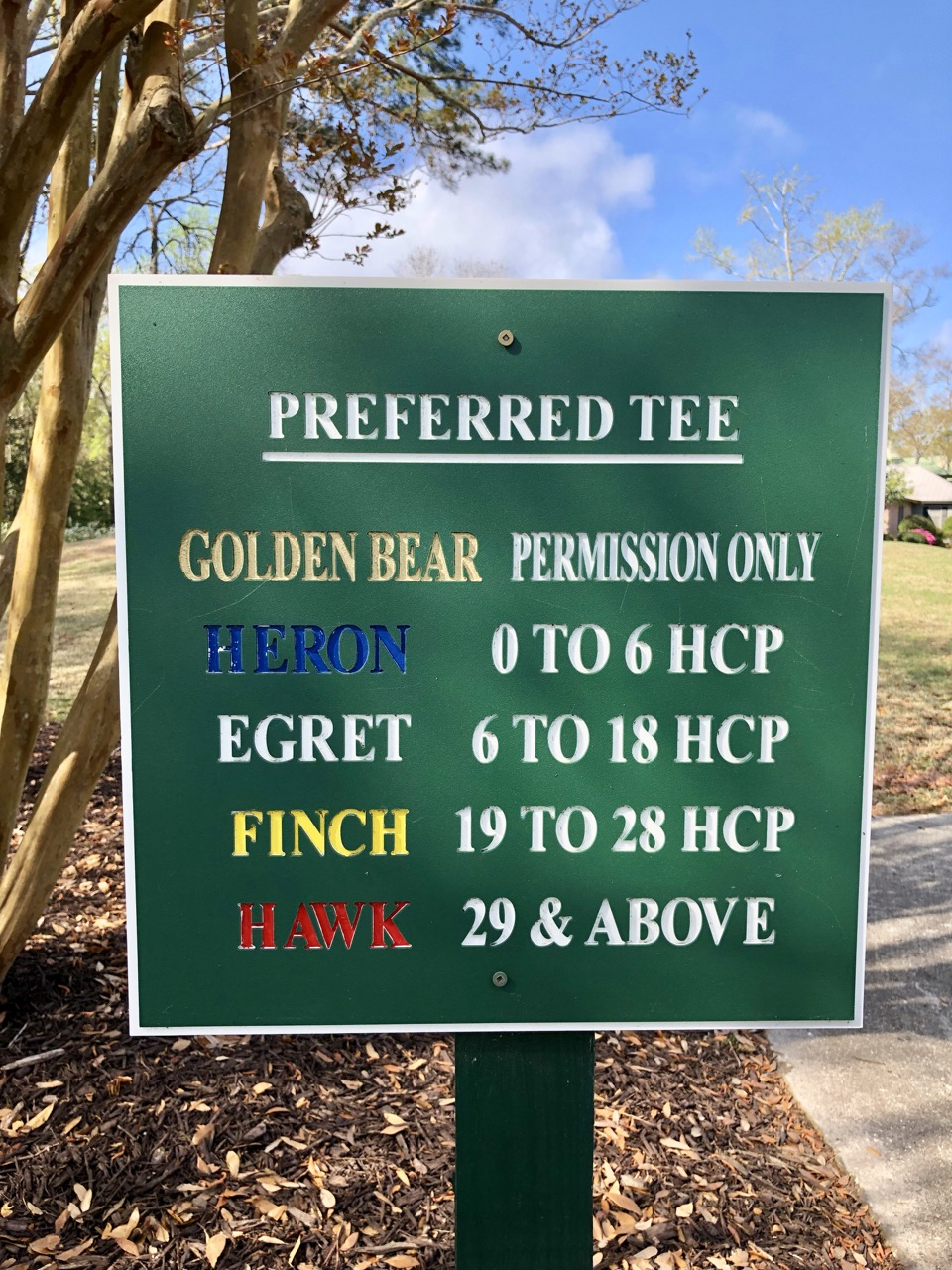 PawleysPreferred tee sign